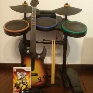 Guitar Hero set Wii