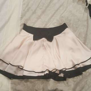 Satin Short skirt size 10 Pink