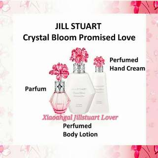 ❤LIMITED EDITION❤◆DEC 2017: AUTHENTIC BRAND NEW FRESH IN BOX◆*RESTOCK MONTHLY* 30ml Jill Stuart CRYSTAL BLOOM PROMISED LOVE EDP PERFUME (FRESH & LATEST MANUFACTURED date=Active Ingredients) No Pet No Smoker Clean Hse