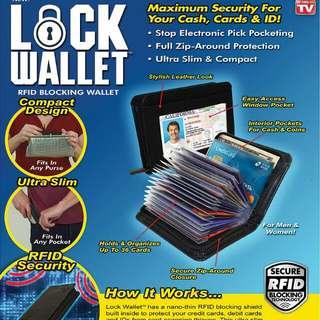 Dompet kartu kredit secure RFID Blocking