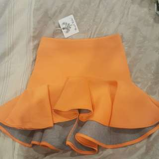 Shirt Skirt Orange Size 10