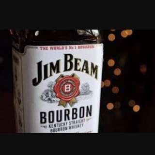Jim Beam Bourbon Whiskey 1Liter