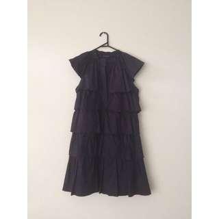 Alpha 60 Navy Blue Tiered Dress