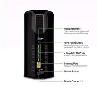 Wireless AC1750 Dual-Band Gigabit Cloud Router DIR-868L