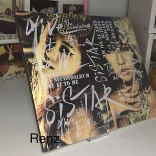 SISTAR (Give it to me) Album Kpop