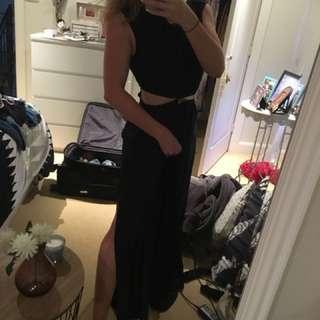 Black Sabo Skirt Maxi Dress