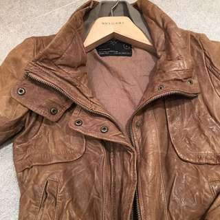 All Saints Distressed Leather Jacket (XS/S)