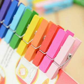 Colored Wooden Clips