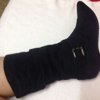 Slouch Buckle Boots