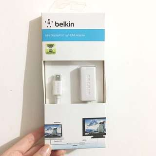 Belkin Mini DisplayPort To HDMI Adapter( MacBook 轉插線)包郵
