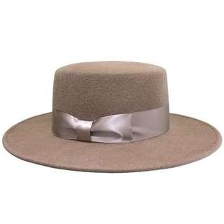 「新品推薦」秋冬新款時尚百搭羊毛呢禮帽