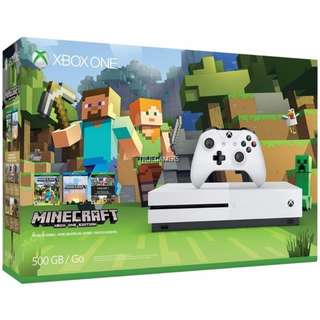 XBOX ONE S 500GB ASIA MINECRAFT BUNDLE - SOLD OUT