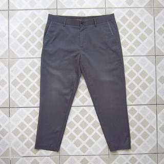 Dark Gray Cropped Pants (Tailored)