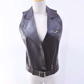 Gucci Leather Vest Size 40 Brown