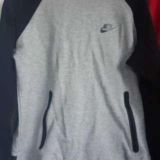 Nike black and grey hoodie