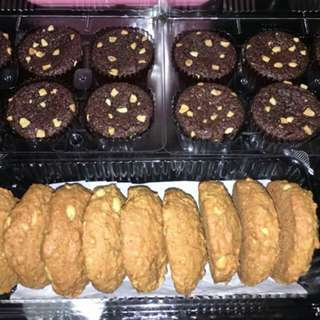 Selling Home made & Delicious Desserts!💙 What are you waiting for, Order now? 👍📞📩  Cake ✔ Cupcake ✔  Fluffy mamon ✔  Espresso chocolate chip cookies ✔ Oatmeal chews cookies ✔