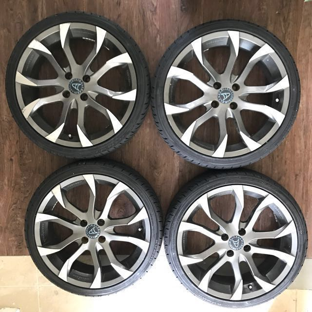 17 Inch Sports Rims For Sale At $99/  (4 Rims Only), Car Accessories On  Carousell