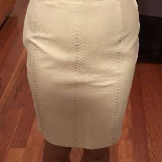 Keepsake White Animal Jacquard Pencil Skirt 6