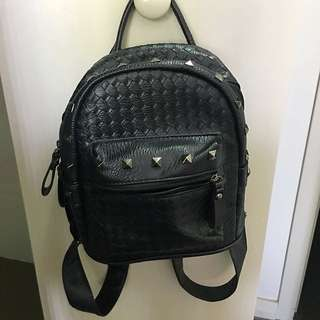 Silver Studded Backpack
