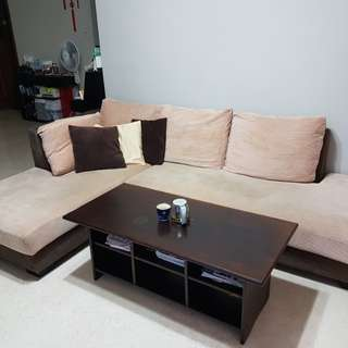 Fabric Sofa set and coffee table