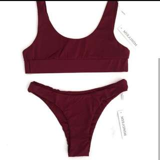 MYRA SWIM WINE TOP