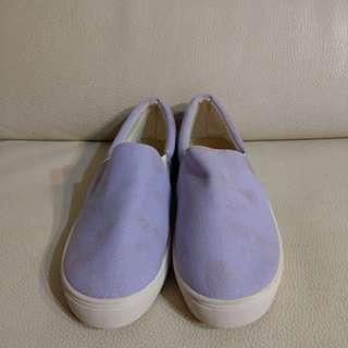 🚚 24號粉紫帆布鞋