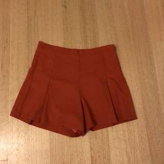 Terracotta orange shorts size 12