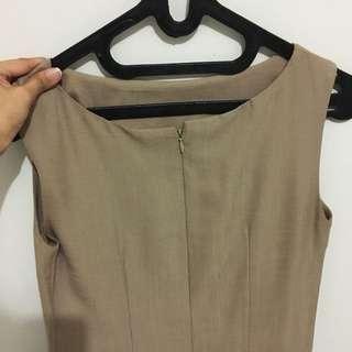 Brown Simple Dress