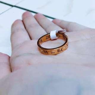 🚚 鏤空羅馬字戒指