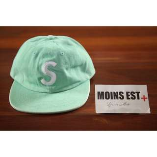 SUPREME Washed Denim S Logo Cap - Mint SS17