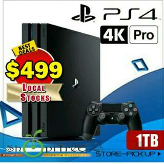 New PS4 1 TB Pro Console. Most Responsive Gaming Experiences / Next level gaming 4K Quality Resolution w Remarkable Clarity.
