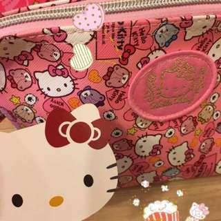 New!大容量Hello kitty防潑水旅行 收納化妝包 隨身包(附手提帶)