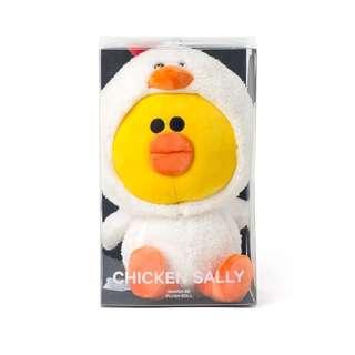 🚚 Line Friends 韓國帶回 25cm莎莉咕咕雞 偽裝系列娃娃