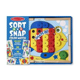 BNIB Melissa & Doug Sort and Snap Color Match - Sorting and Patterns Educational Toy