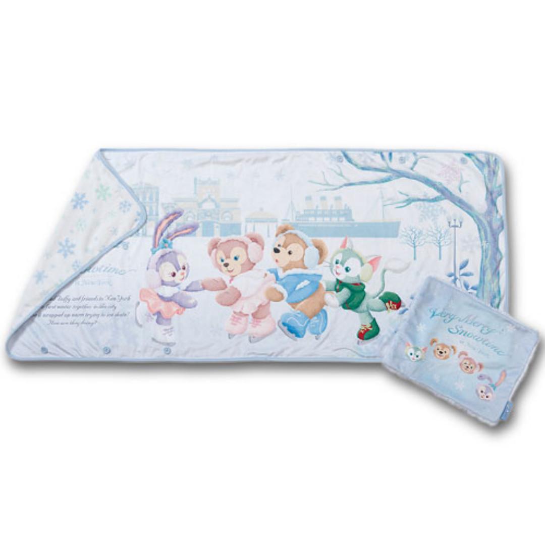 ~小小牛瑪奇朵~2017日本海洋迪士尼聖誕節溜冰系列Duffy&ShellieMay達菲雪莉玫史黛拉兔吉拉東尼貓五用毯