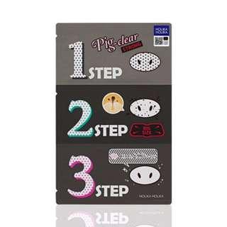 Holika Holika Pig Nose Clear Blackhead 3-Step Kit (STRONG)