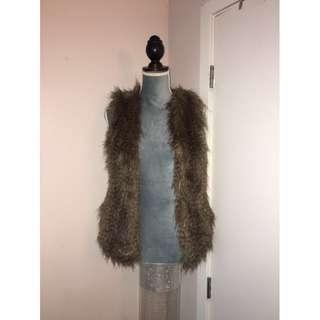H&M Fur Vest Size S Women's