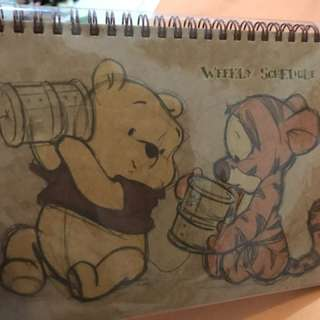 Winnie the Pooh Weekly Planner