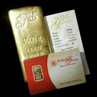 1kg Gold Bar 999.9 24K LBMA Accredited