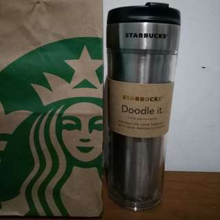 Starbucks Create Your Own Doodle Tumbler
