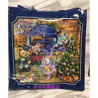 🚚 ~小小牛瑪奇朵~2017日本海洋迪士尼聖誕節胡桃鉗系列Duffy&ShellieMay達菲雪莉玫史黛拉兔吉拉東尼貓購物袋