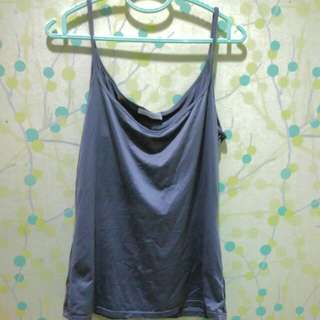 Promod Grey Satin Top.