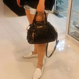 ⤵Price MUl MUI Leather 2 Way Tote Bag