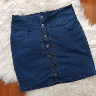Factorie Denim A-Line Skirt