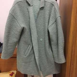 🚚 淡薄荷色大衣外套 #我的女裝可超取