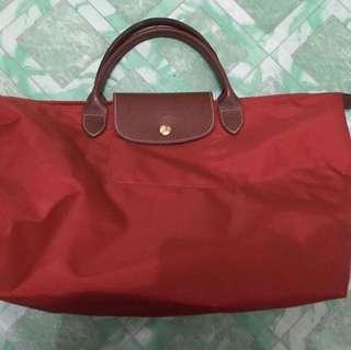 Original Longchamp Top Handle Bag Burnt Red
