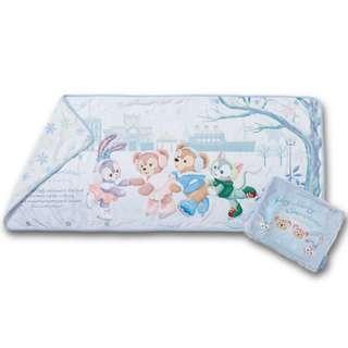 🚚 ~小小牛瑪奇朵~2017日本海洋迪士尼聖誕節溜冰系列Duffy&ShellieMay達菲雪莉玫史黛拉兔吉拉東尼貓五用毯