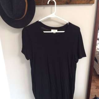 Wilfred free long black t shirt size small