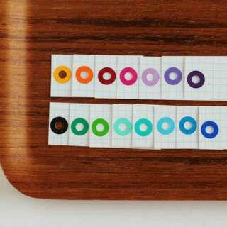 Grid Gift Tags Solid Colour Rings