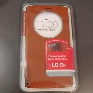 Premium Leather Quick Circle Clip Case for LG G4